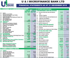 financial report 2015